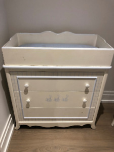 Hand painted dresser and baby change table top