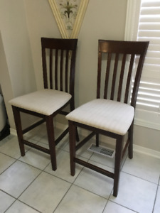 Solid Bar Stool Chairs - Must Go!