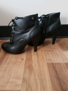 High Heeled Boots Size 8
