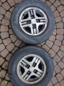 First Gen FB Mazda RX7 Rims and Tires