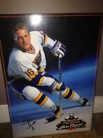 90's hockey posters mounted on plaque