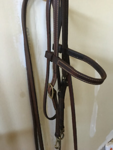 Bailey western bridle, bit and spurs