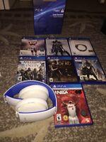 items ps4 casque sony, nhl16,TESO, Mortal Combat etc..