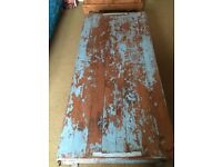 Distressed Teal Indian Coffee Table
