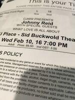 4 Johnny Reid Concert Tickets