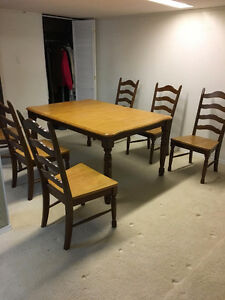 Solid Wood Dining Room Set