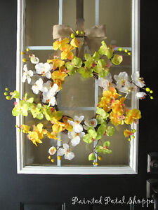 Spring Orchid Wreath/Fuchsia/Yellow Orchid/Spring Wreath Belleville Belleville Area image 6