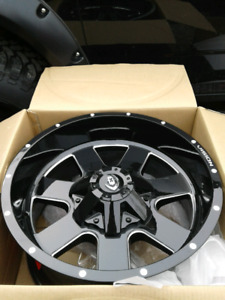 NEW 20X10 -25 8X165 OR 8X180 VISION RIMS