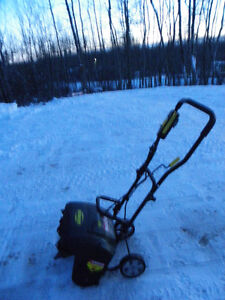 Like new electric snowthrower