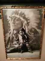 """Gorgeous """"Native Indian Proverb"""" framed poster"""