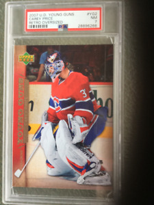 CAREY PRICE ... JUMBO / OVERSIZE .. YOUNG GUN .. PSA NEAR MINT 7