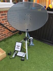 Portable satellite dish
