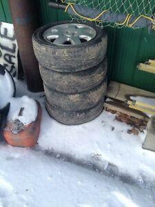 """205/55R16 tires on 16"""" rims 5 bolt $70"""