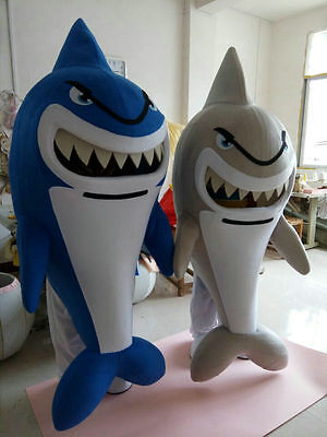 2018 Adult Blue Animal Whale Shark Mascot Costume Material Fancy Dress Cosplay - Cosplay Materials