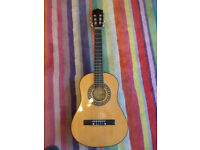 Encore ENC12OFT Natural Wood Half Size Classic Guitar Outfit + Case + Extras (RRP £63)