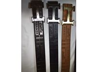 hermes , Versace and calvin klein leather belt