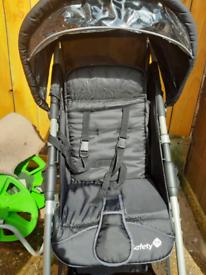 Black pushchair Safety
