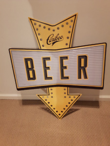3 BEER SIGN (tin sign/good condition)