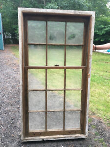 beautiful antique window set of 8 with frames