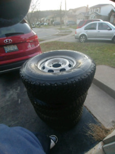 Winter tires and rims.  Used 1 season