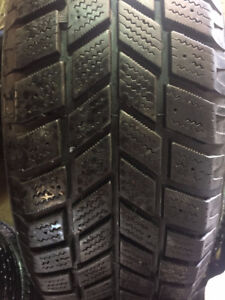 Set of 2015 60 16 Hankook iPike snow tires on 5x108 rims