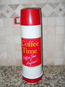 Vintage Coffee Time Thermos