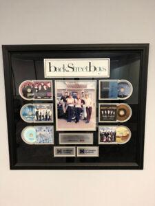Backstreet Boys framed CD award