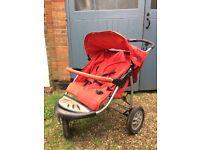 Urban wheeler 3 wheel double buggy (pushchair) £30 Ono