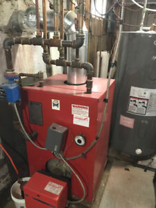 Hot water furnace and rads