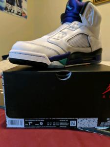 ecc32f9e45be99 New Nike Air Jordan 5 Grape  Fresh Prince  NRG Size 11.5  400 ...