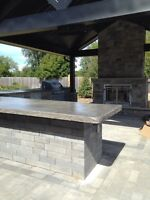 Smoothcrete tops, floors, fireplaces