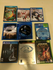 Various games (PS4, WiiU, Xbox)