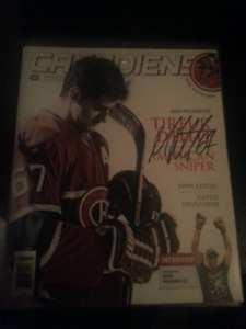 Max pacioretty cory perty  authentic signed nhl magazine
