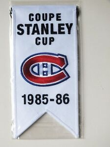 CENTENNIAL STANLEY CUP 1985-86 BANNER MONTREAL CANADIENS HABS