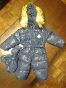 Winter duck down romper for 4-6 months baby