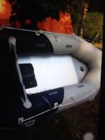 Hydro-force inflatable dingy with 7.7 hp Mercury outboard