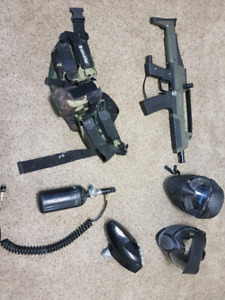 Full paintball Set with accessories