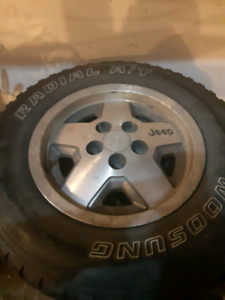 Jeep cherokee, tj, yj rims and tires