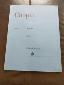 Chopin Waltzes G. Henle Verlag Piano Sheet Music