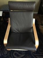 New poang ikea leather chair