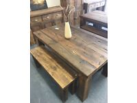 5ft x 3ft reclaimed pine dining table