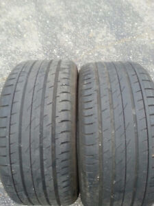 2x 275/40R19 Continental sport tires