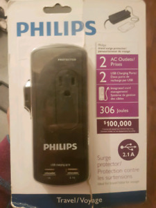 Phillips travel surge protector