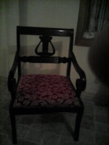 Vintage antique oak arm chair