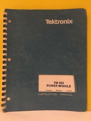 Tektronix 070-1305-01 Tm 503 Power Module Instruction Manual
