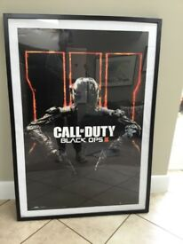 Framed 'call of duty black ops 3' poster