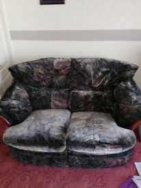 Three seater Settee, Two Seater Settee & a Rocking Chair