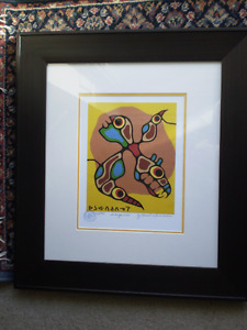 """Norval Morrisseau """" Inorganics """" Limited Edition Print"""