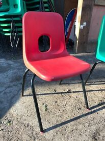 78 x Plastic stacking children's size chairs