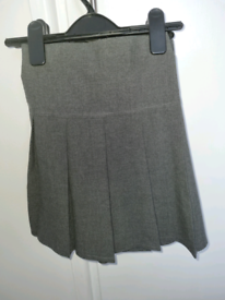 M&S grey pleated school skirts.